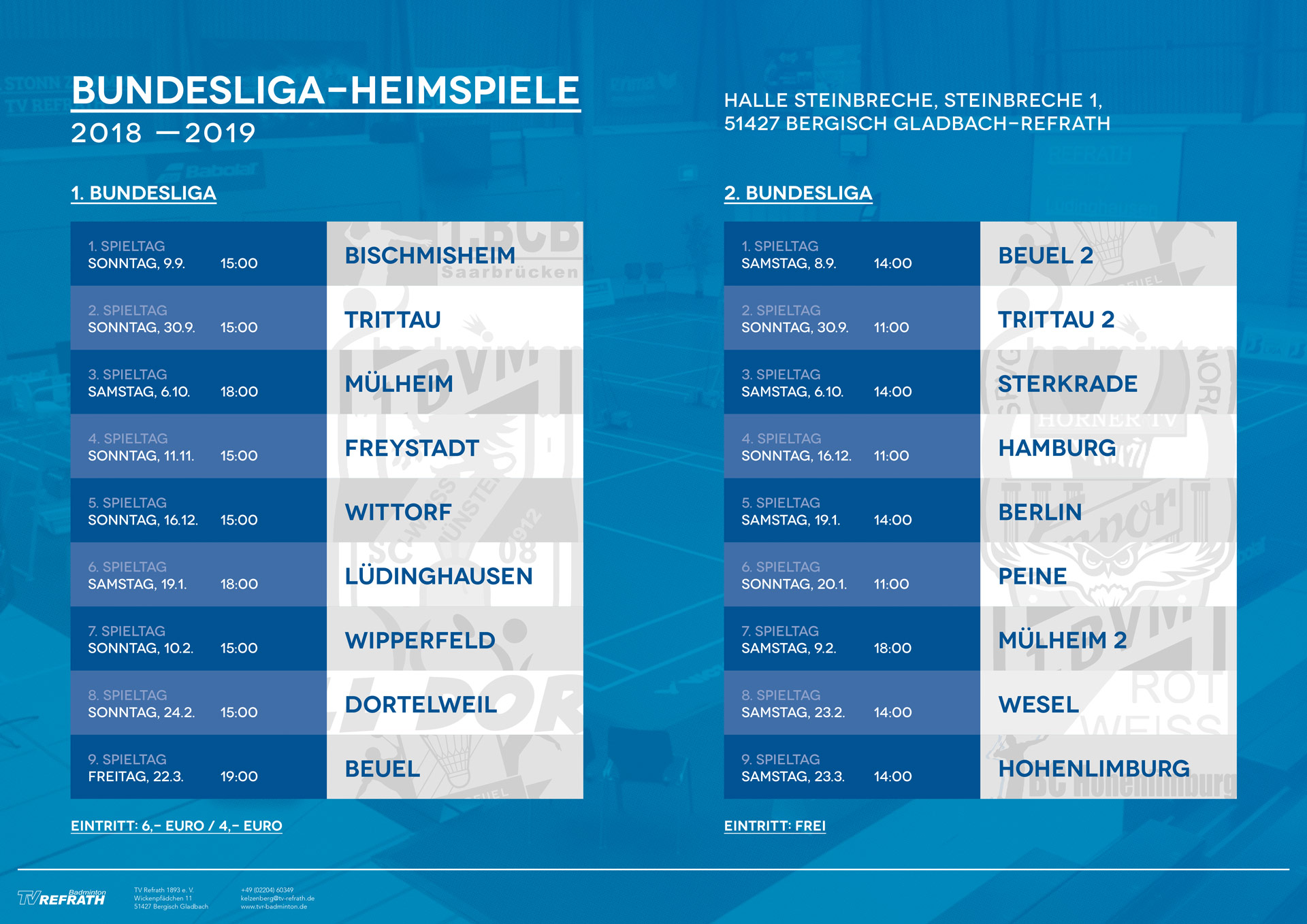 Bundesliga-Heimspielplan