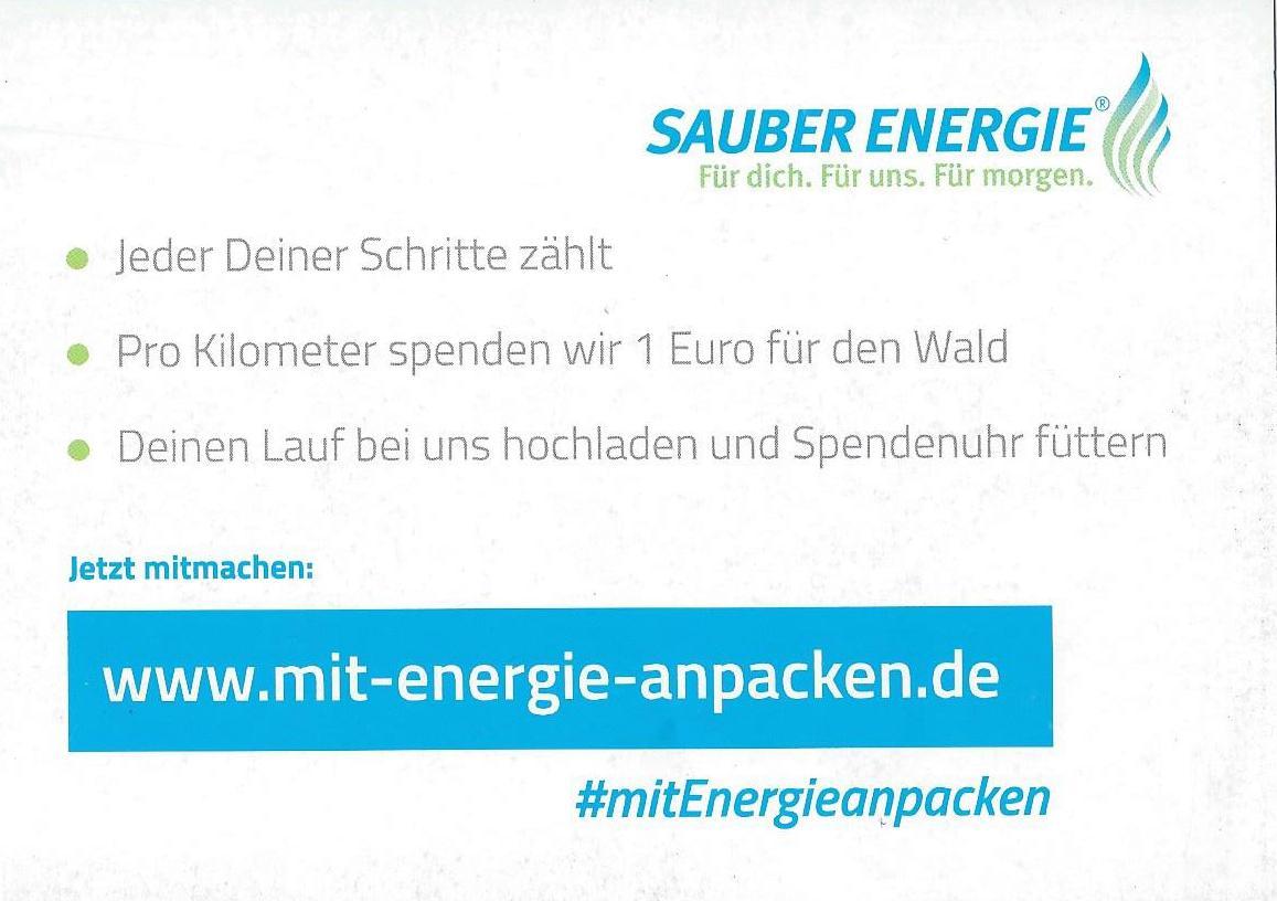 Sauber Energie - jeder km zählt - Postkarte RS 1