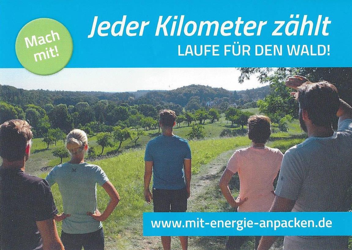 Sauber Energie - jeder km zählt - Postkarte VS 1