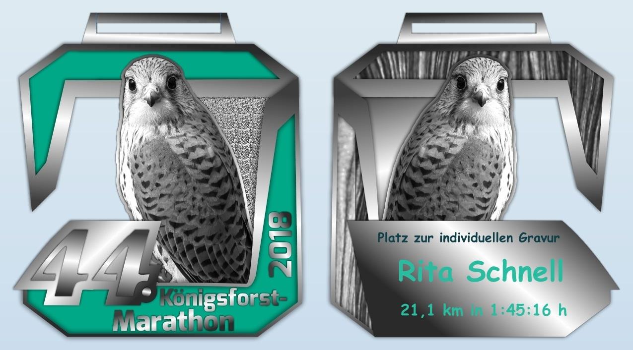 Königsforst Marathon 2018 - Medaille