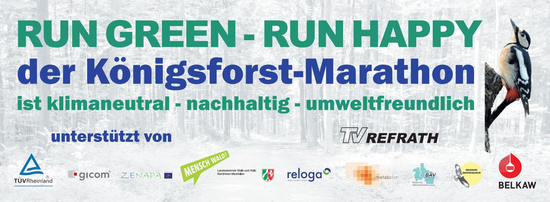 Königsforst-Marathon - Web-Banner klimaneutral mit Logos
