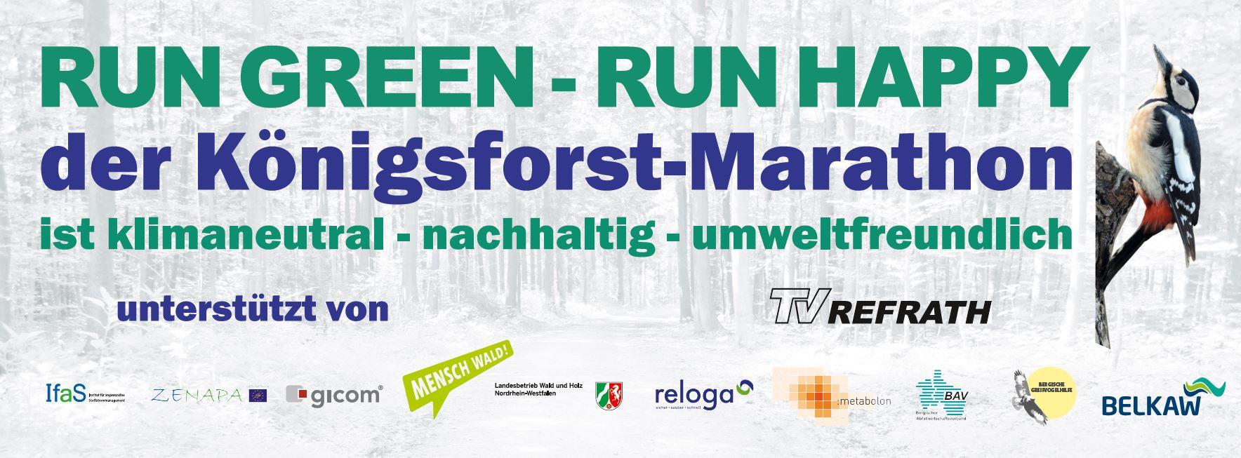 RUN GREEN - RUN HAPPY - Köfo-M klimaneutral Webbanner 2019-2020
