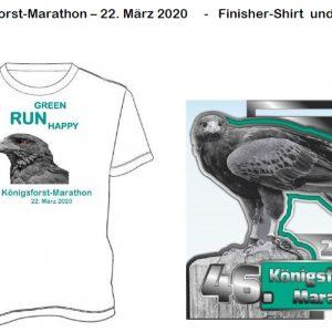 T-Shirt und Medaille 2020