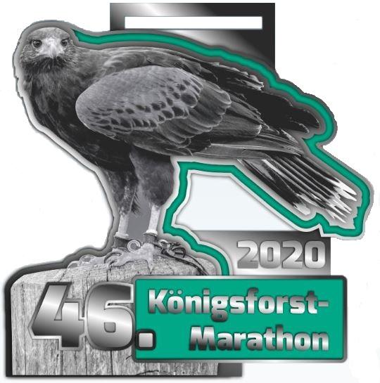 46. Königsforst-Marathon 2020 - Finisher-Medaille Wüstenbussard