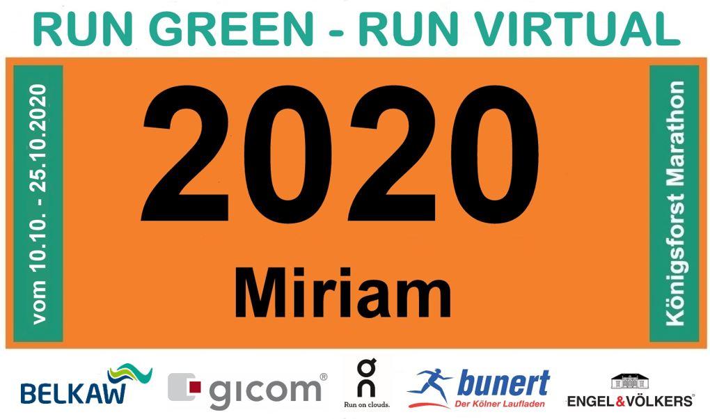 Köfo-Marathon Start-Nr Layout - RUN VIRTUAL - Vorlage 2020 2