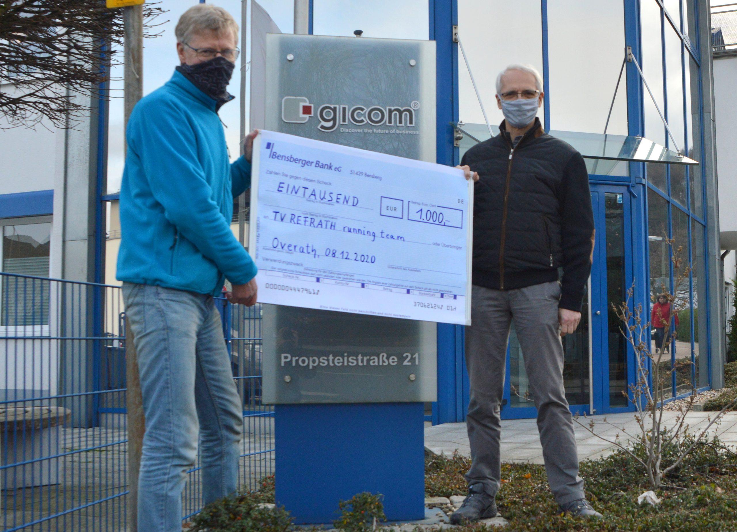 Königsforst Marathon 2020: gicom spendet 1.000€