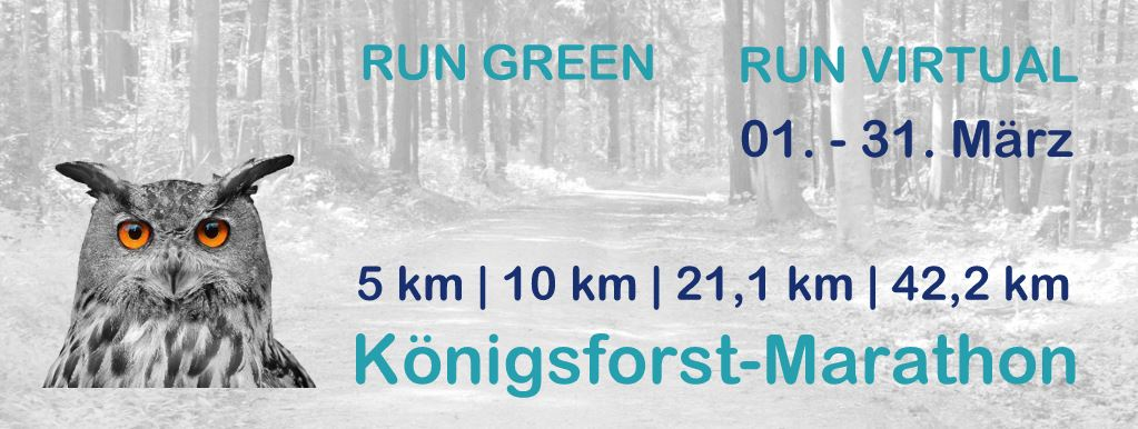 Königsforst Marathon 2021 - RUN VIRTUAL