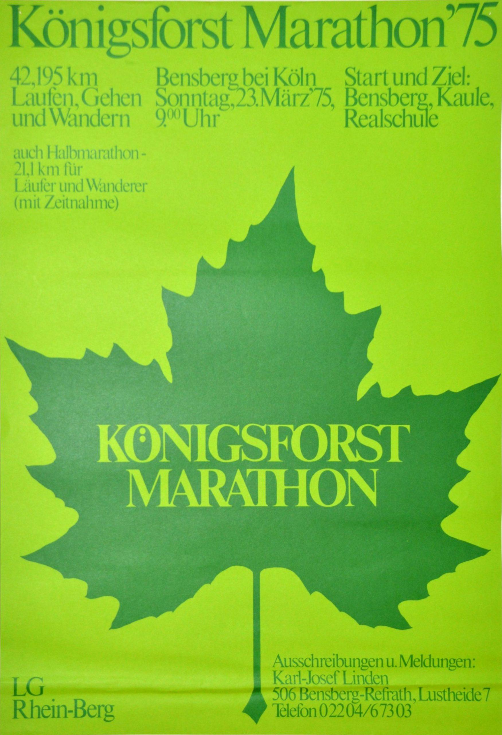 Historische Dokumente vom Königsforst-Marathon gesucht