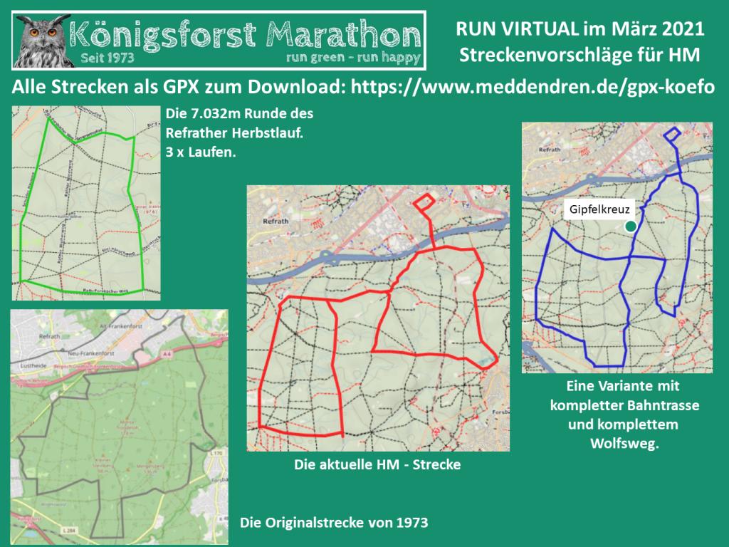 Streckenvorschläge Run Virtual