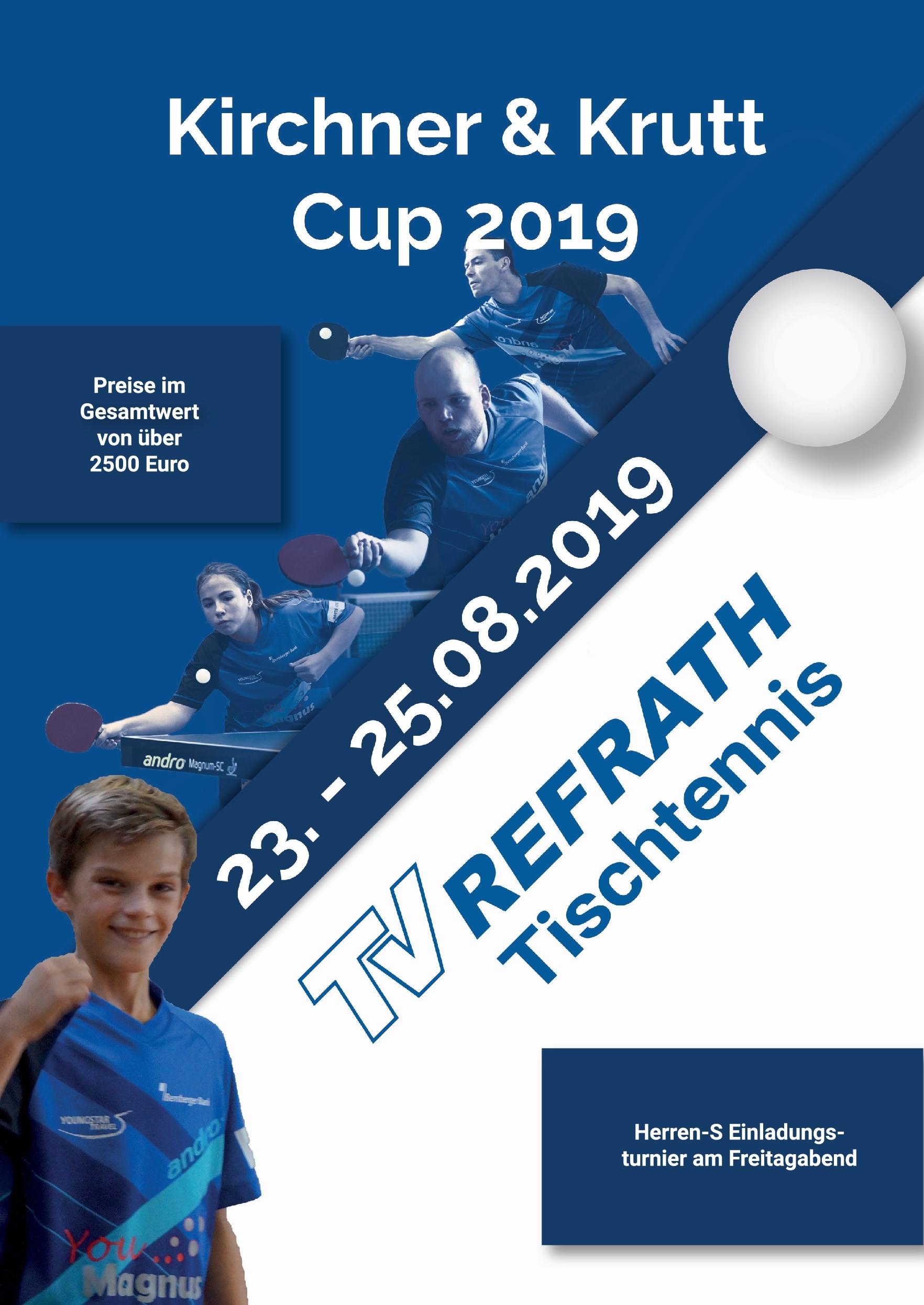 Erster Kirchner & Krutt Cup findet am letzten August Wochenende in Refrath statt