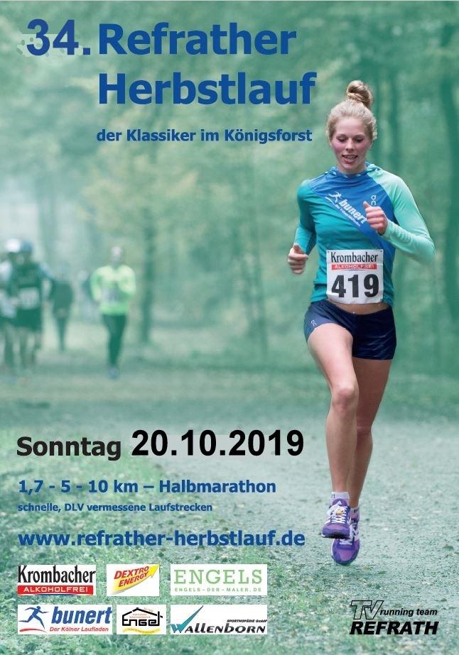 34. Refrather Herbstlauf 2019 - Titelseite